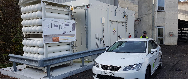 kleinen Biogas Aufbereitungsanlage mit integrierter Biogas-Tankstelle bei der ARA Schönenwerd_Apex