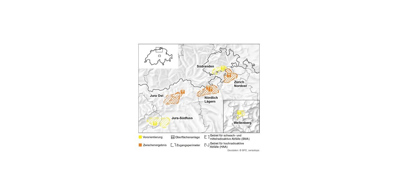 Karte Tiefenlager