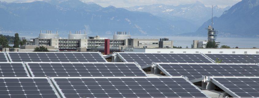 Toiture du collège de la Coquerellaz - installation solaire exploitée par SIREN