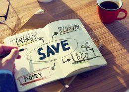 Notizbuch Save: Energy - Economy - Money - Eco