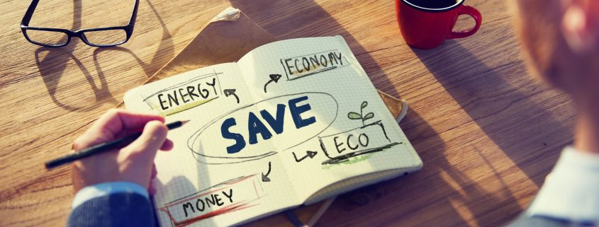 Notizbuch Save: Energy - Economy - Money - Eco