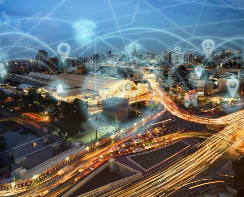 Smart city and internet wireless communication network