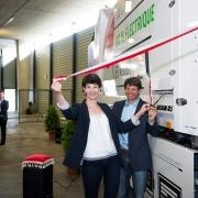Einweihung Futuricum mit Florence Germond, Stadt Lausanne, und Philippe Müller, BFE