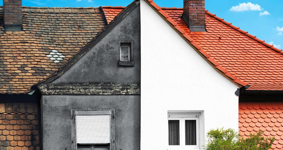 Altes vs. neues Gebäude